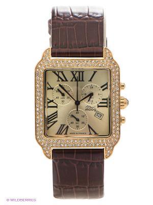 Часы MOOG. Цвет: коричневый