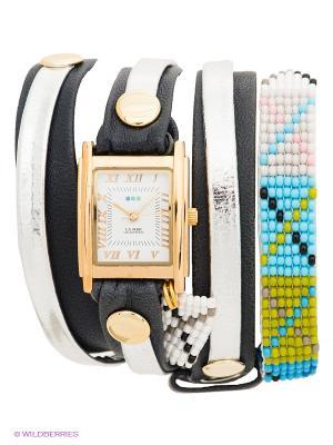 Часы La Mer Collections. Цвет: темно-синий, серебристый, золотистый