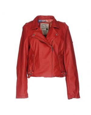 Куртка DUCK FARM. Цвет: красный