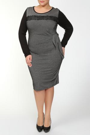 Платье PER TE BY KRIZIA. Цвет: серо-черный