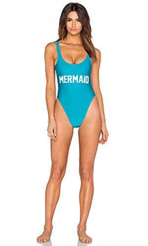Слитный купальник mermaid Private Party. Цвет: синий