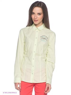 Рубашка S.OLIVER. Цвет: светло-зеленый, молочный