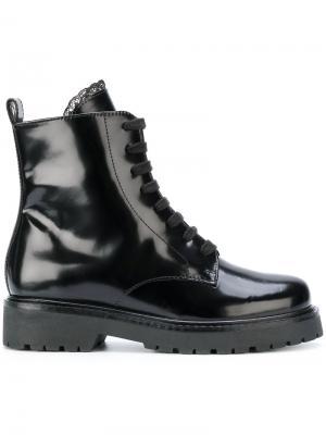 Ботинки со шнуровкой Twin-Set. Цвет: чёрный