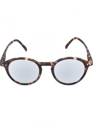Солнцезащитные очки в круглой оправе See Concept. Цвет: чёрный