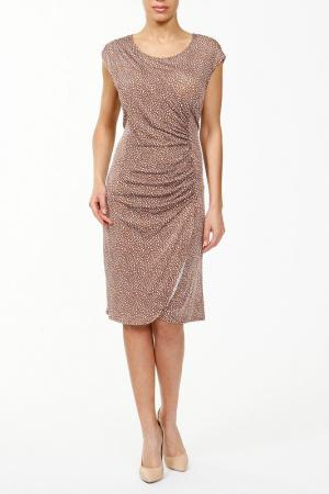 Платье джерси PERSONA. Цвет: коричневый