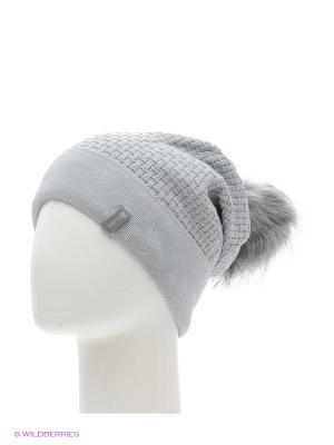 Ребека Беркле шапка женская с помпоном Berkle. Цвет: серый