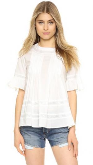 Кружевная блуза Boho ENGLISH FACTORY. Цвет: оттенок белого