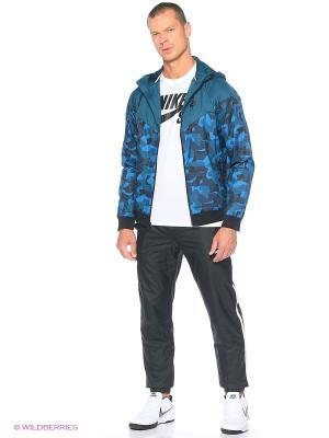Ветровка M NSW WR AOP BDLNDS Nike. Цвет: морская волна