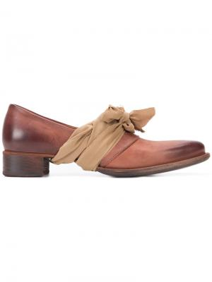 Туфли с завязкой Cherevichkiotvichki. Цвет: коричневый