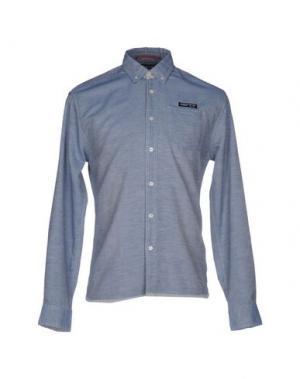 Джинсовая рубашка ANDY WARHOL BY PEPE JEANS. Цвет: синий