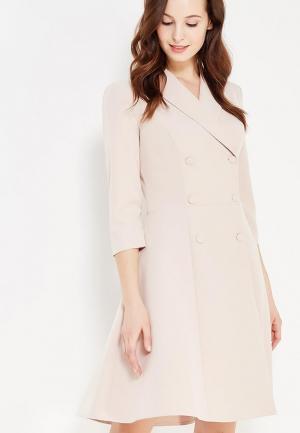 Платье Demurya Collection. Цвет: бежевый