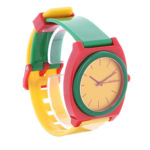 Часы  Time Teller Rasta Nixon. Цвет: желтый,зеленый,красный