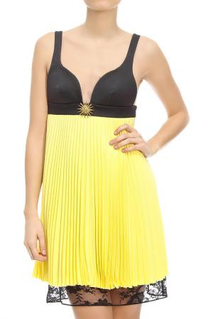 Платье Fausto Puglisi. Цвет: желтый