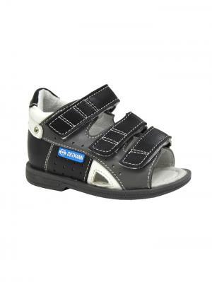 Обувь ортопедическая малосложная STENLY, арт. 7.44.2 ORTMANN. Цвет: черный, серый