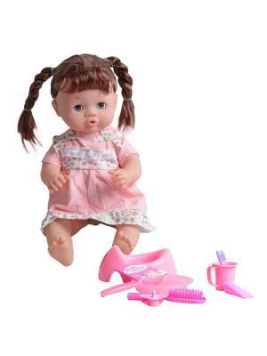 Пупс Анечка Lisa Jane. Цвет: коричневый, белый, бледно-розовый, розовый