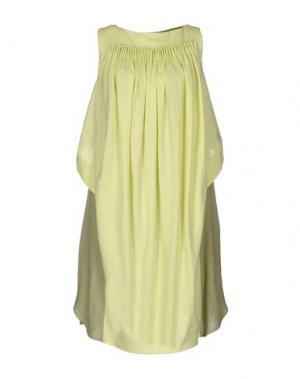 Короткое платье OBLIQUE CREATIONS. Цвет: кислотно-зеленый