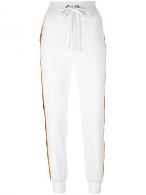 Спортивные брюки с лампасами No Ka Oi Ka'. Цвет: белый