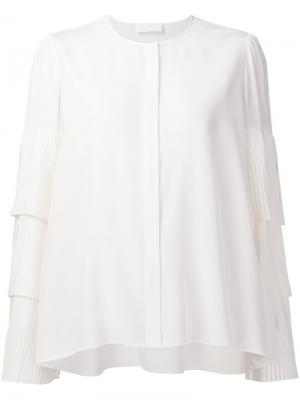 Блузка с плиссированными рукавами Co. Цвет: белый