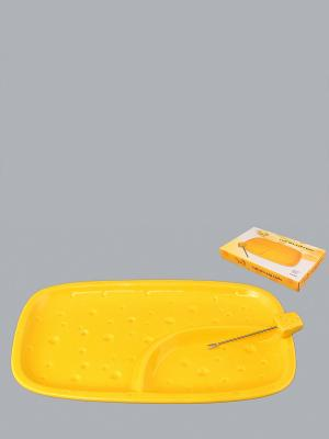 Тарелка для сыра Сыр Elan Gallery. Цвет: желтый