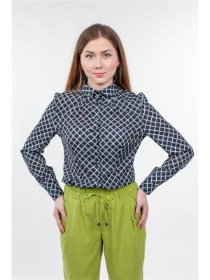 Блузка Falinda. Цвет: серый, синий