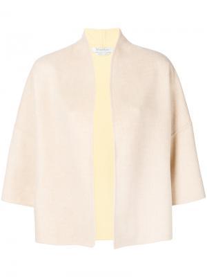 Cropped sleeve jacket Max Mara. Цвет: телесный