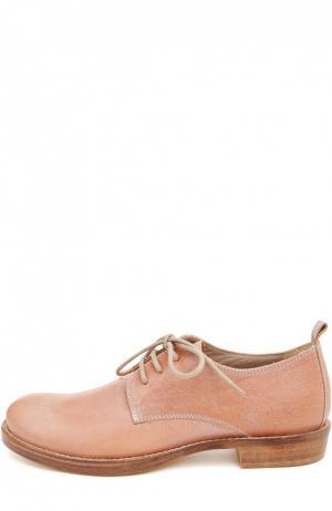 Кожаные ботинки на шнуровке Ann Demeulemeester. Цвет: розовый