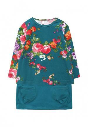 Комплект платье и лонгслив Fleur de Vie. Цвет: бирюзовый