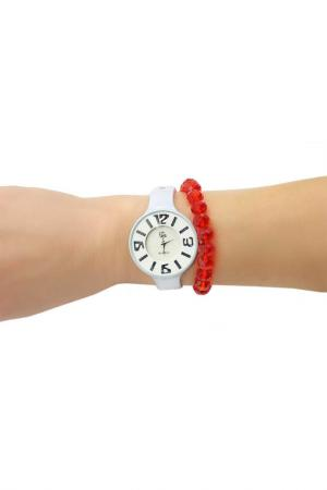 Набор: часы, браслет Taya. Цвет: белый, красный