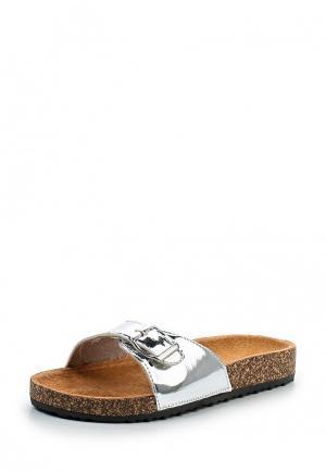 Сабо Ideal Shoes. Цвет: серебряный