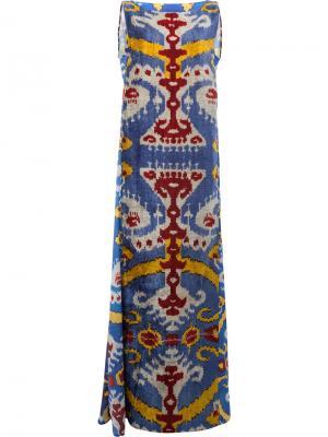 Вечернее платье с узором Afroditi Hera. Цвет: многоцветный