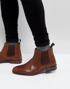Burton Menswear Кожаные ботинки челси. Цвет: рыжий