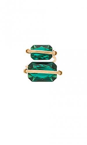Кольцо peyton Mimi & Lu. Цвет: зеленый