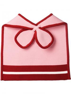 Шарф-нагрудник Minjukim. Цвет: розовый и фиолетовый