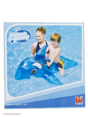 Игрушка надувная Дельфин Bestway. Цвет: голубой, черный