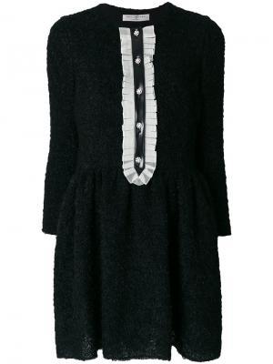 Платье с пышной мини юбкой Philosophy Di Lorenzo Serafini. Цвет: чёрный