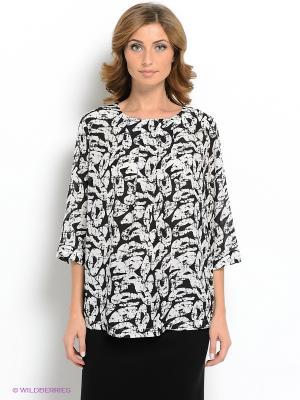 Блузка Vis-a-vis. Цвет: светло-серый, черный