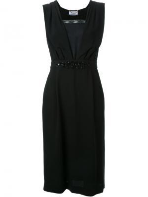 Декорированное платье Muveil. Цвет: чёрный