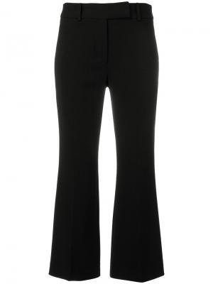 Укороченные расклешенные брюки Michael Kors. Цвет: чёрный