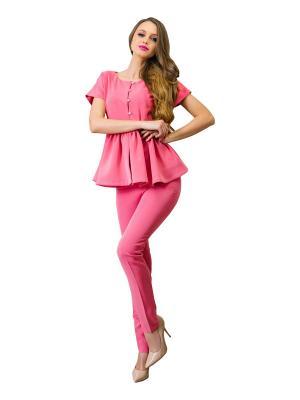 Блузка DiSASH. Цвет: розовый