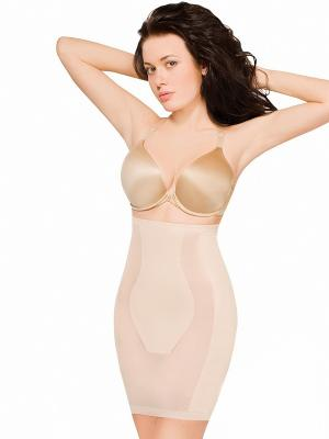 Корректирующая юбка MAIDENFORM. Цвет: бежевый