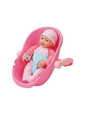 Игрушка my little BABY born Кукла 32 см и кресло-переноска ZAPF. Цвет: розовый