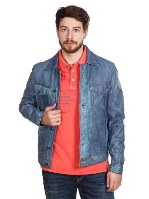 Куртка Trapper. Цвет: голубой