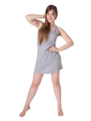 Сорочка ночная Belweiss. Цвет: серый