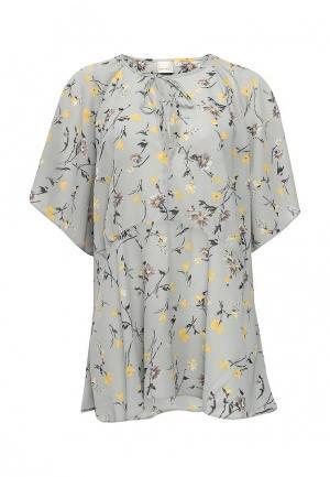 Блуза LOST INK PLUS. Цвет: серый