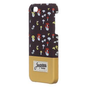 Чехол для iPhone  Грибочки 5/5s Brown/Sand Запорожец. Цвет: бежевый,коричневый