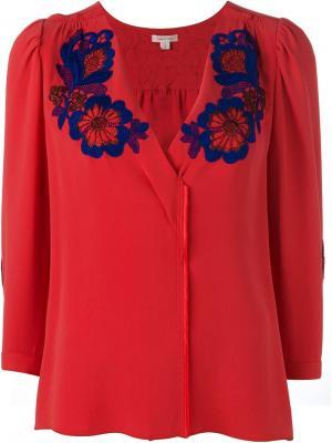 Блузка с вышивкой Marc Jacobs. Цвет: красный