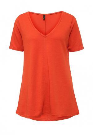 Футболка United Colors of Benetton. Цвет: оранжевый