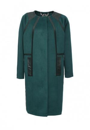 Пальто D.VA. Цвет: зеленый