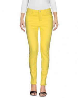 Джинсовые брюки DON'T CRY. Цвет: желтый