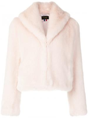 Короткая шуба Erelle La Seine & Moi. Цвет: розовый и фиолетовый